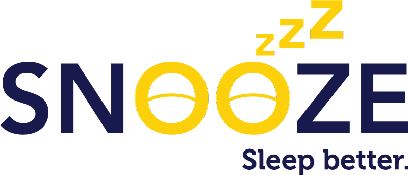 "SNOOZE logo with ""Sleep Better"" tagline"
