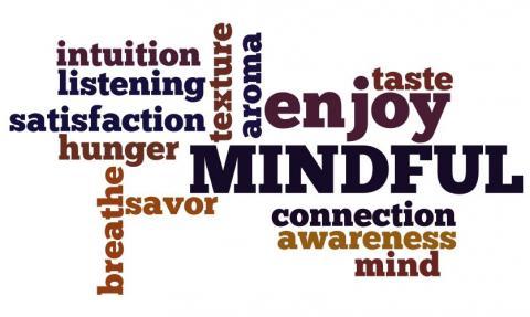 Positive words regarding mindful eating