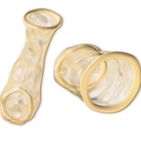 Two internal condoms