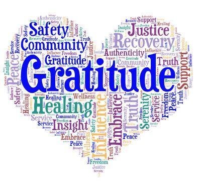 Heart shape built on positive words