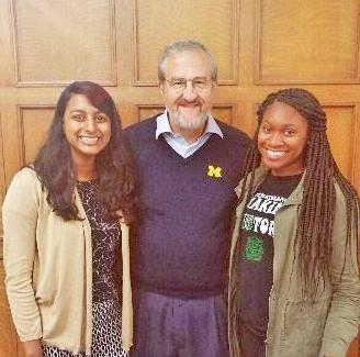 U-M President Schlissel and UHS/Wolverine Wellness Students at Escapade