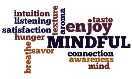 Positive words regarding mindful eating