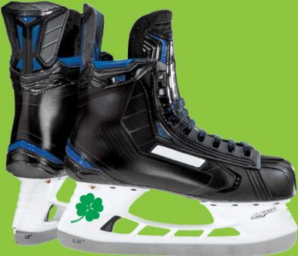 ice skates with shamrock