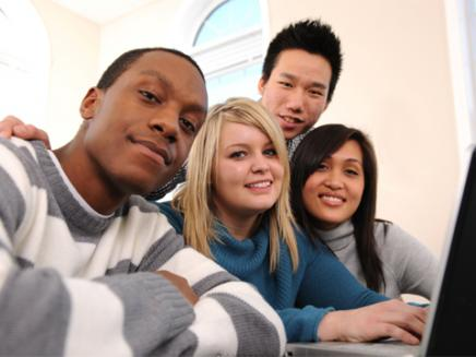 a group of international students