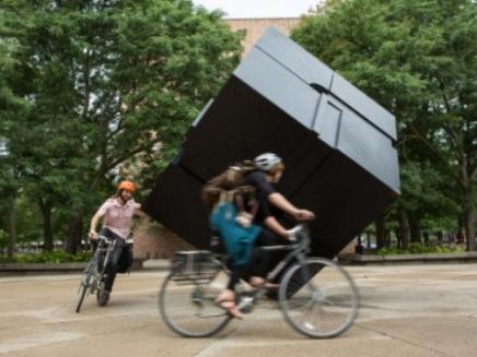 Riding bikes around the Cube
