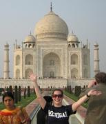 Image of University of Michigan student in front of the Taj Majal