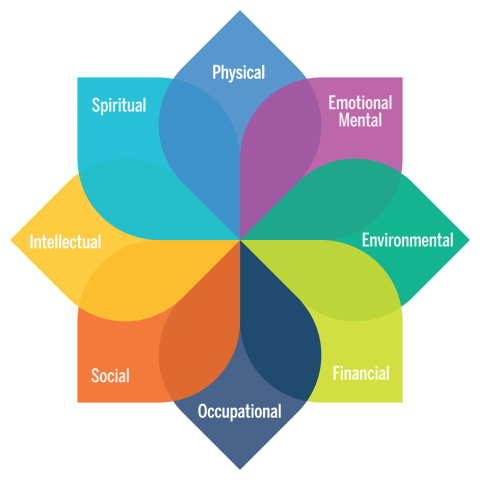 multicolor model of well-being