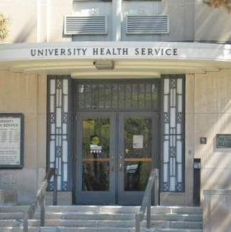 Front entry of University Health Service