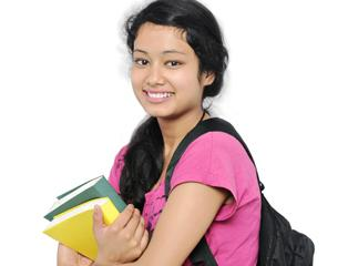 Stock photo of a female student