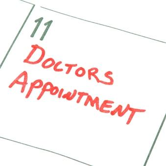 Calendar with doctors appointment reminder