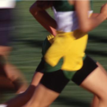 blurred runners