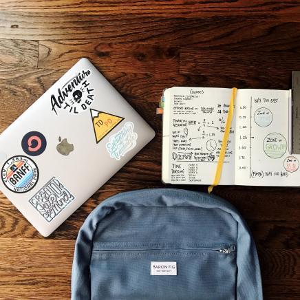 bag laptop notebook ruler