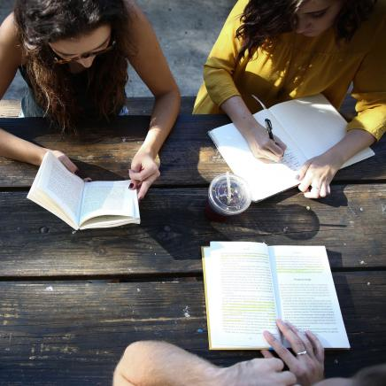 Students sitting at a table