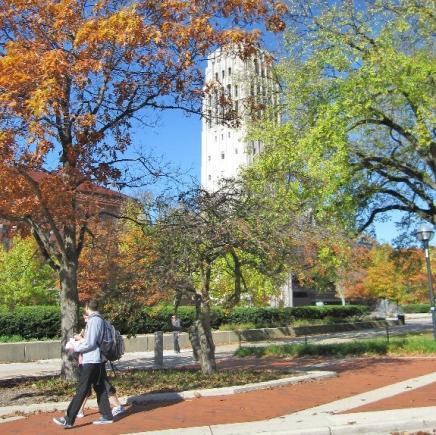 Burton Tower in fall