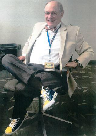 Dr. Robert Winfield wears go-blue shoes