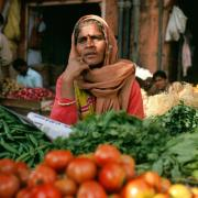 Woman in a market in India, Photo by Evgeny Nelmin on Unsplash