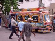 "image of a well decorated ""tap-tap"" bus"